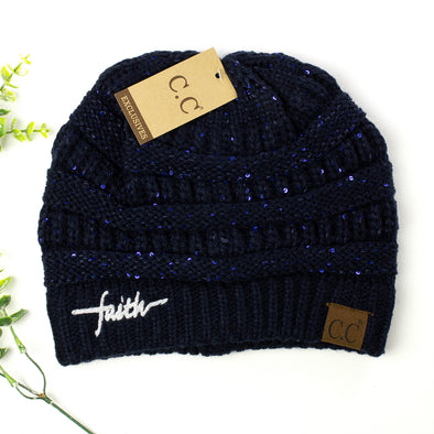 a55d3497d6b Faith Sequin CC Beanie