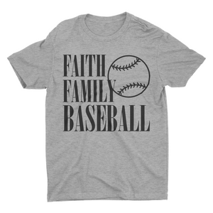 Faith Family Baseball Unisex Tee