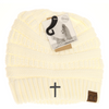 Cross Criss-Cross Knit Beanie