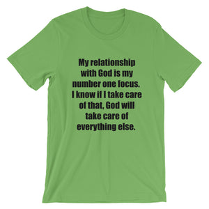 Relationship with God Unisex T-Shirt