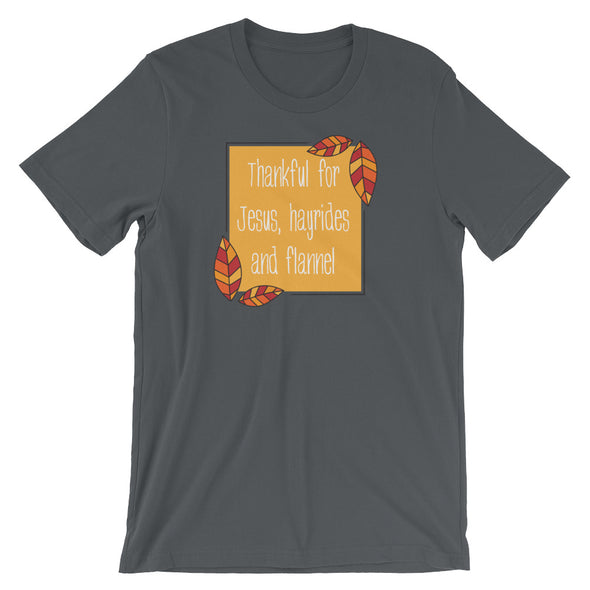Jesus, Hayrides and Flannel Unisex T-Shirt