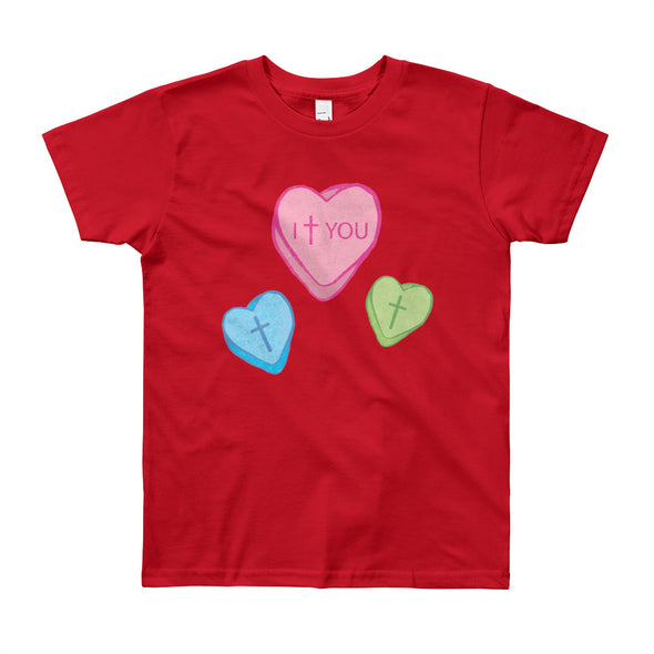 Love Candy Heart Youth Short Sleeve T-Shirt