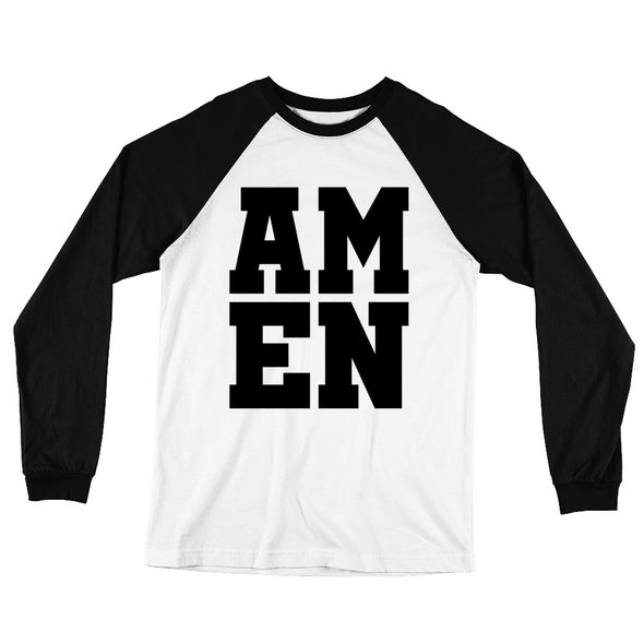 AMEN Long Sleeve Baseball T-Shirt