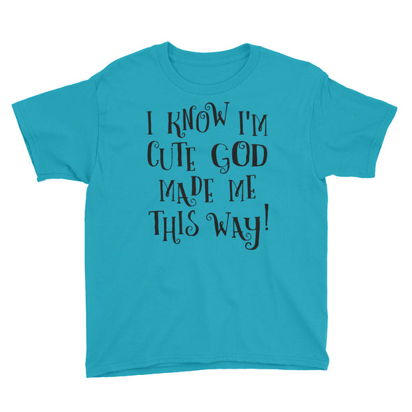 GOD made ME Youth Short Sleeve T-Shirt