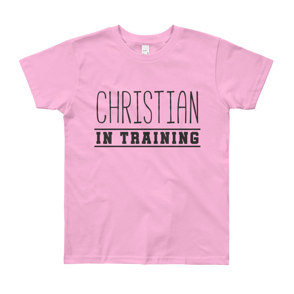 Christian in Training Youth Short Sleeve T-Shirt