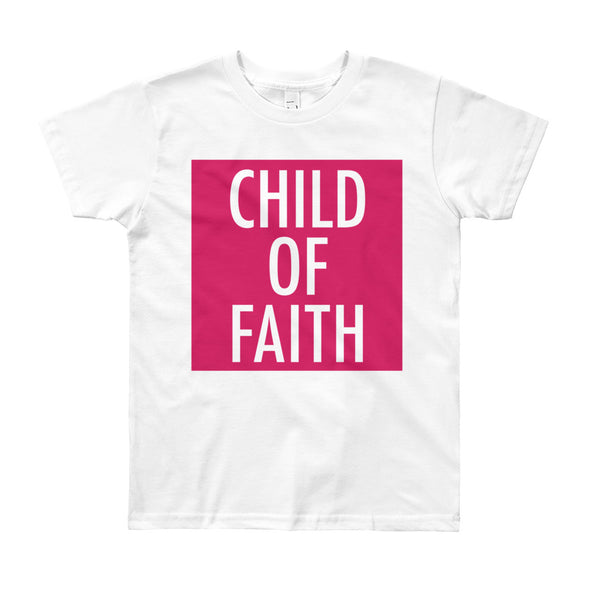Child of Faith in berry youth t-shirt
