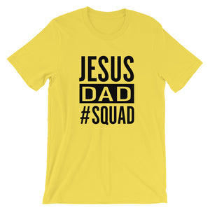 JESUS SQUAD - Dad Unisex Short Sleeve Jersey T-Shirt with Tear Away Label