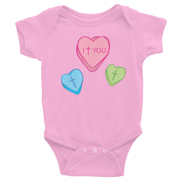 Love Candy Heart Infant Bodysuit