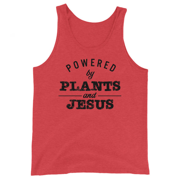 Powered by Plants and Jesus Unisex  Tank Top