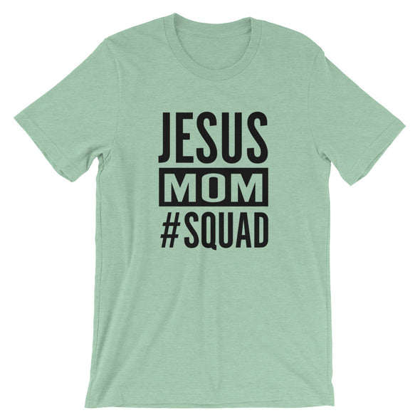 JESUS SQUAD - Mom Unisex Short Sleeve Jersey T-Shirt with Tear Away Label