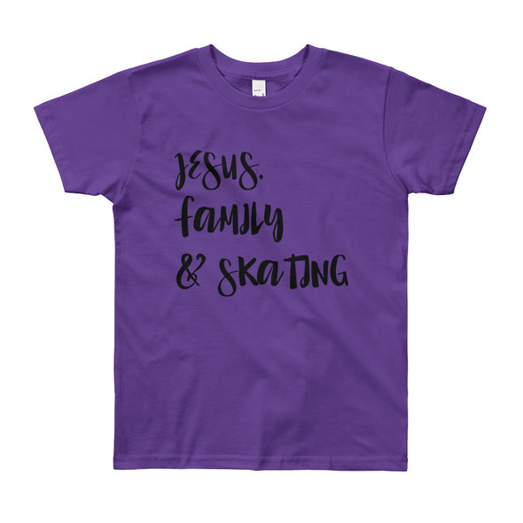JESUS Family and Skating Youth Short Sleeve T-Shirt