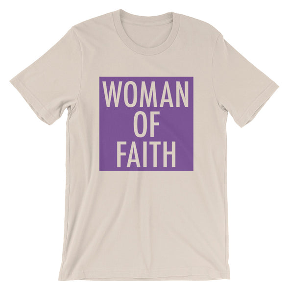 Woman of Faith in purple Unisex T-Shirt