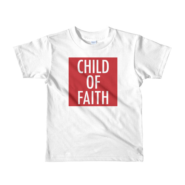 Child of Faith in red toddler t-shirt