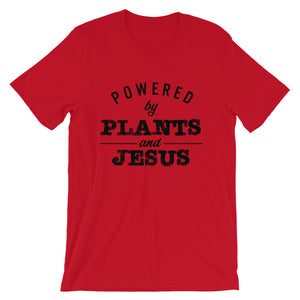 Powered by Plants and Jesus Unisex T-Shirt