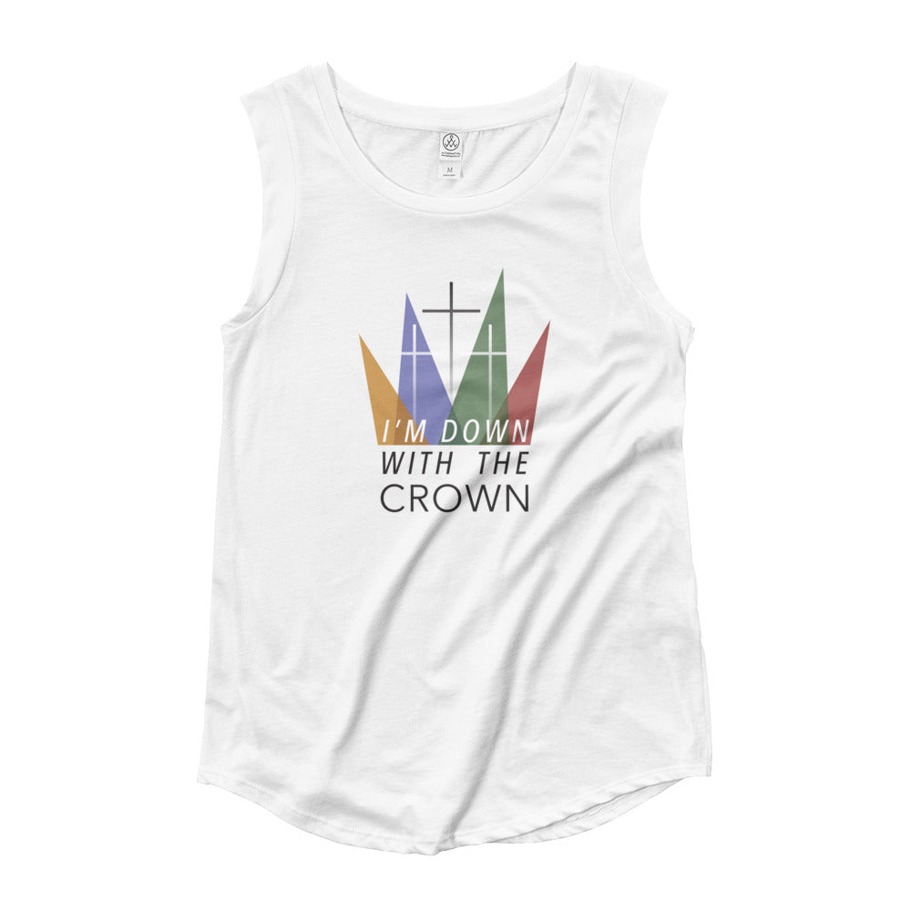 Down With The Crown Ladies' Cap Sleeve T-Shirt