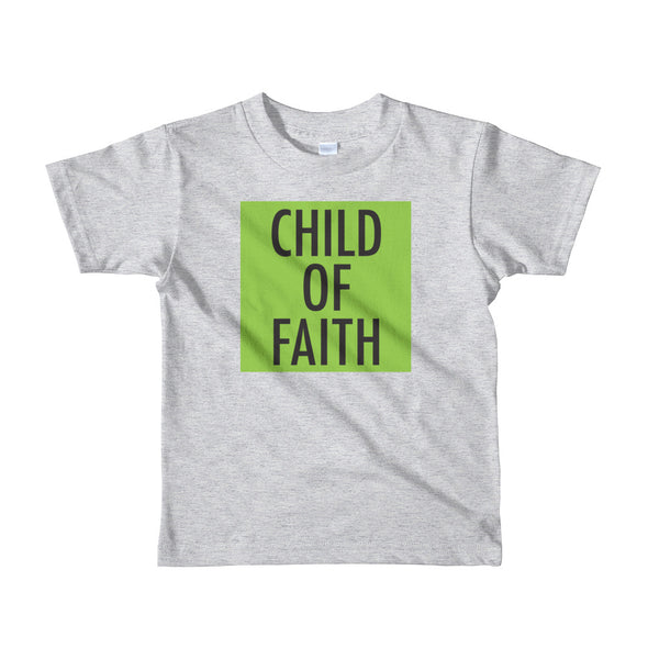 Child of Faith in lime toddler t-shirt