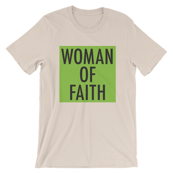 Woman of Faith in lime Unisex T-Shirt