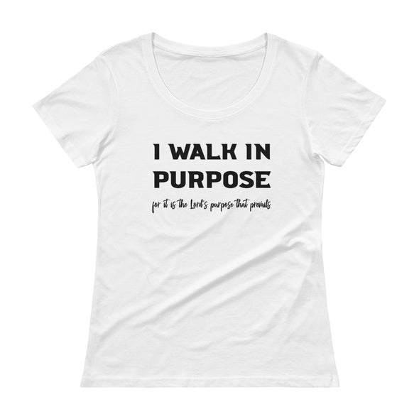 Walk In Purpose Ladies' Scoopneck T-Shirt