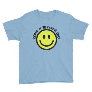 Blessed Day Youth Lightweight Fashion T-Shirt with Tear Away Label