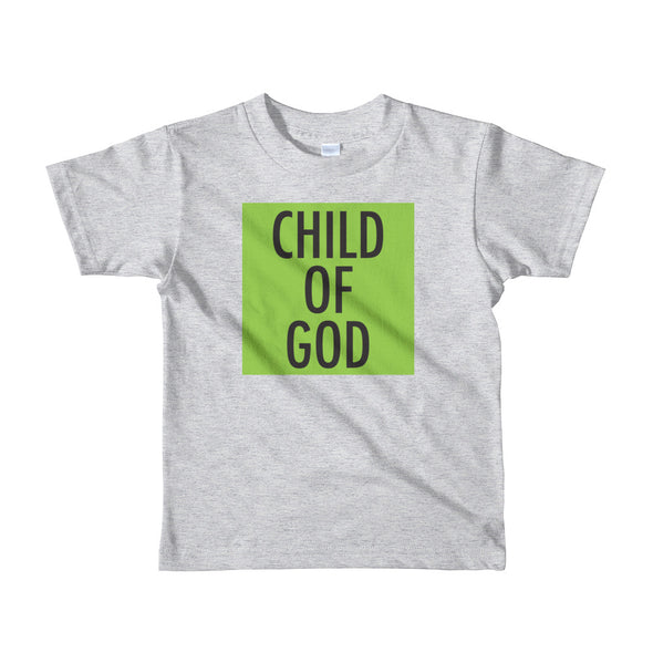 Child of God in Lime Toddler Tee