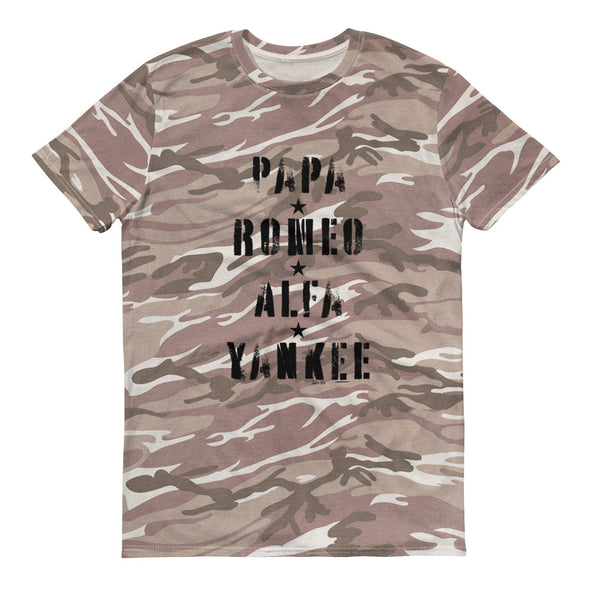 P.R.A.Y. camouflage t-shirt