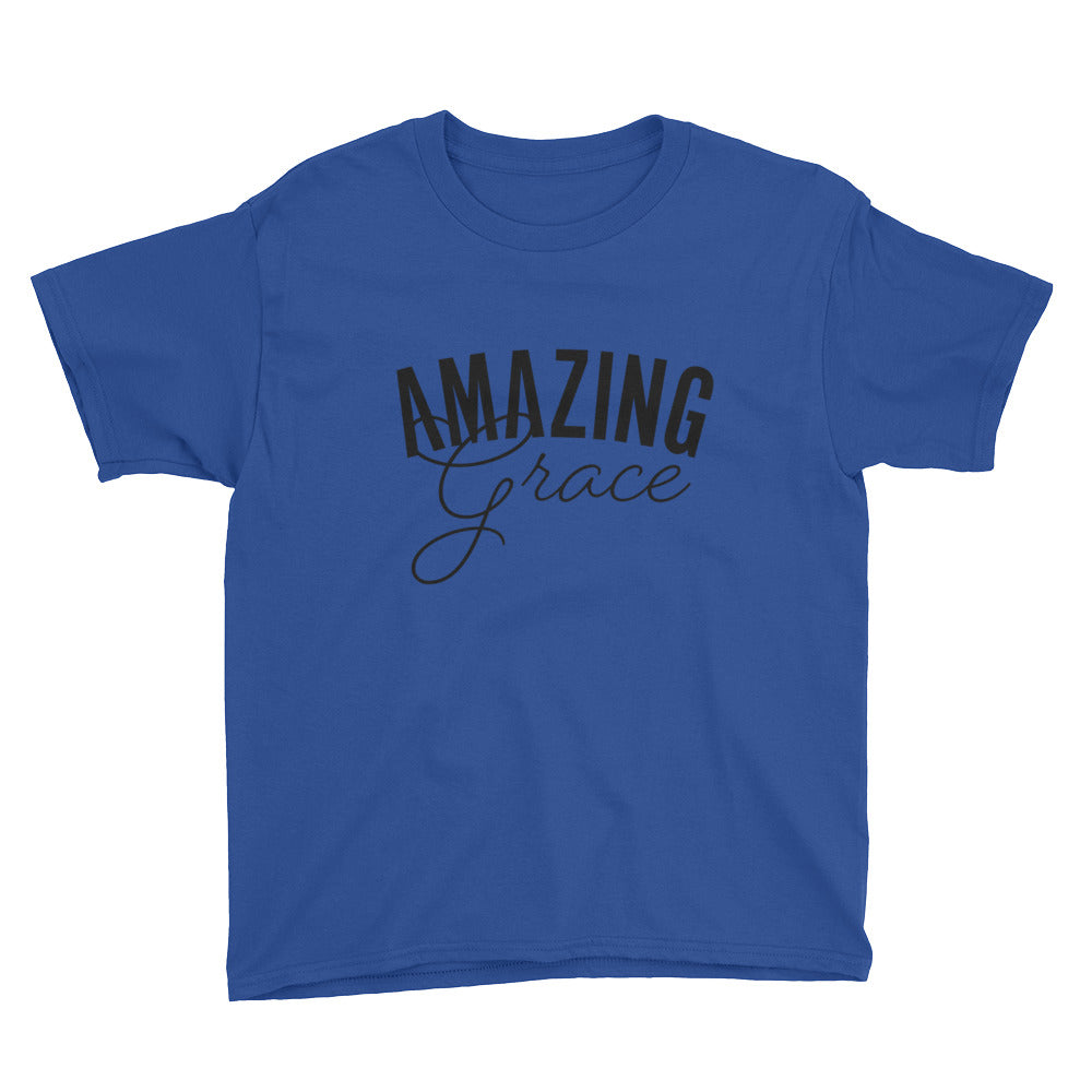 Amazing Grace Youth Lightweight Fashion T-Shirt with Tear Away Label