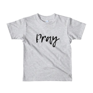 Pray script Short sleeve kids t-shirt