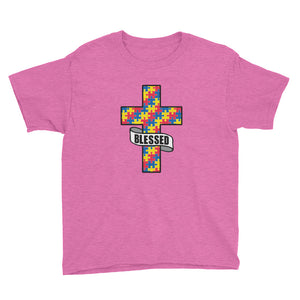 Blessed Autism - Youth Short Sleeve T-Shirt