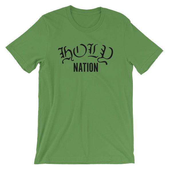 Holy Nation Unisex Short Sleeve Jersey T-Shirt with Tear Away Label