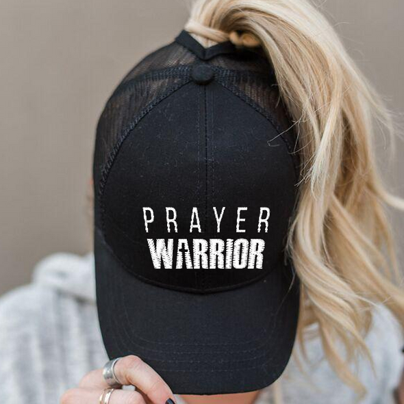 Ponytail Prayer Warrior Hat