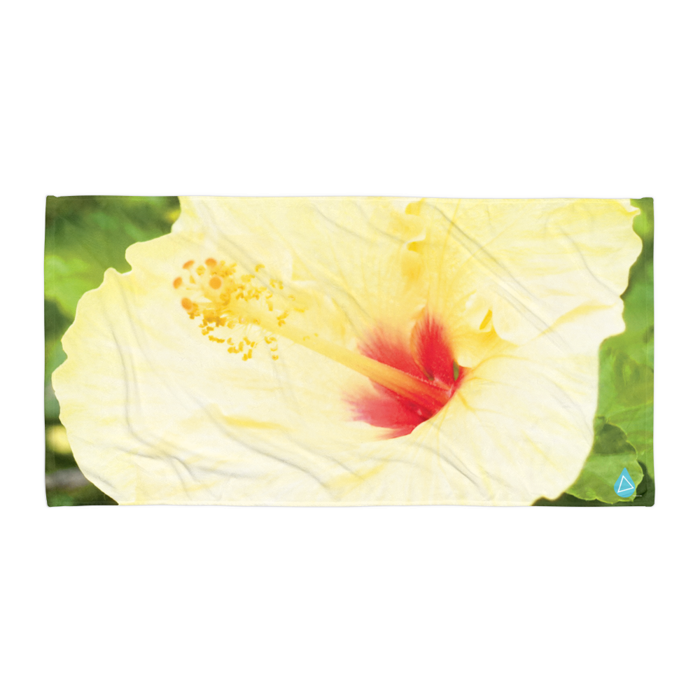 Hibiscus Yellow Flower Towel Photobeachtowel