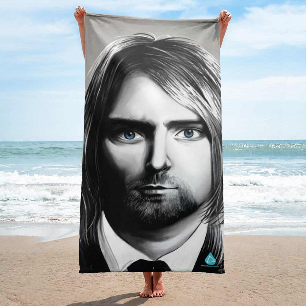 Kurt Cobain Nirvana Beach Towel