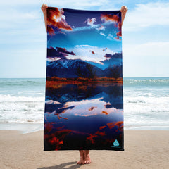 Mountain Water Reflection Towel