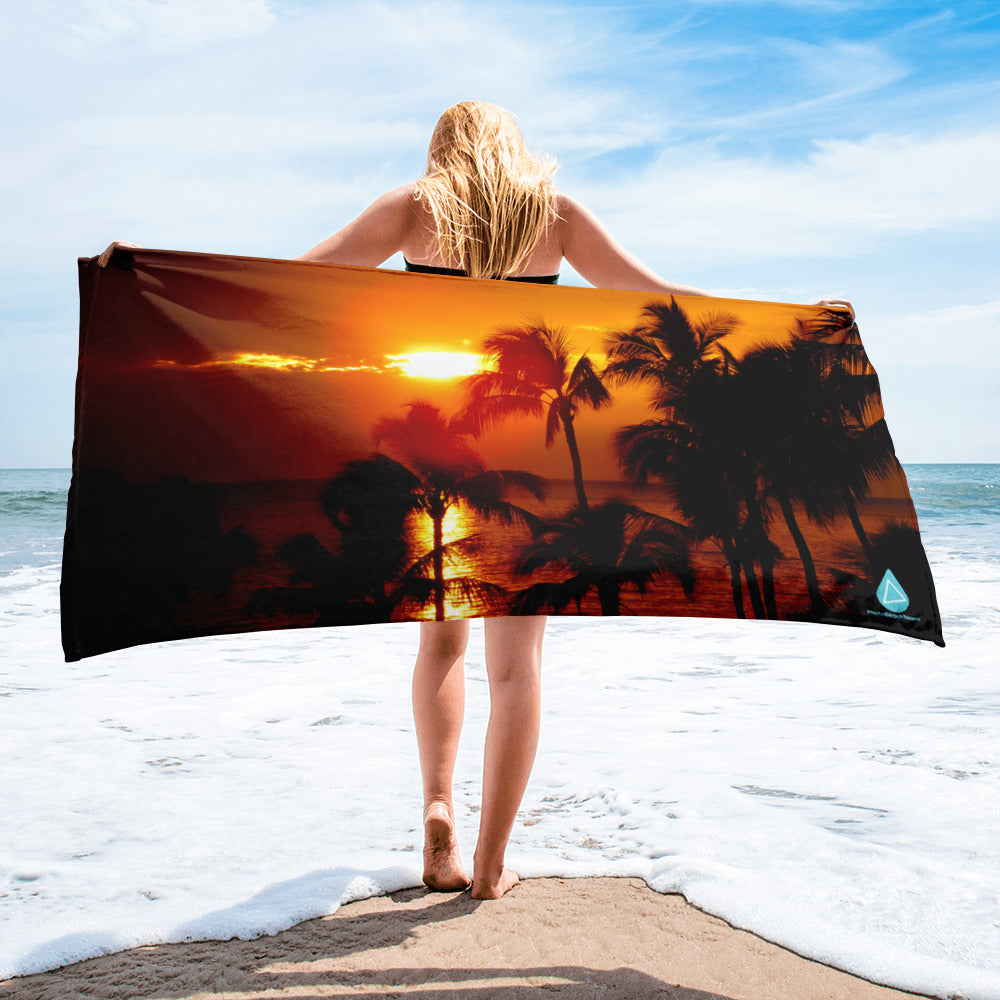 Beach Sunset Towel