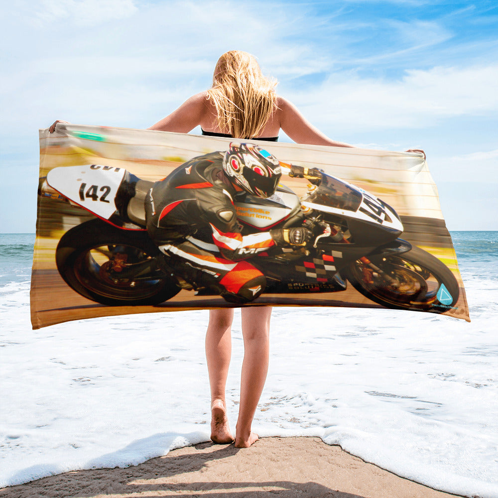 Street Bike Racer Towel