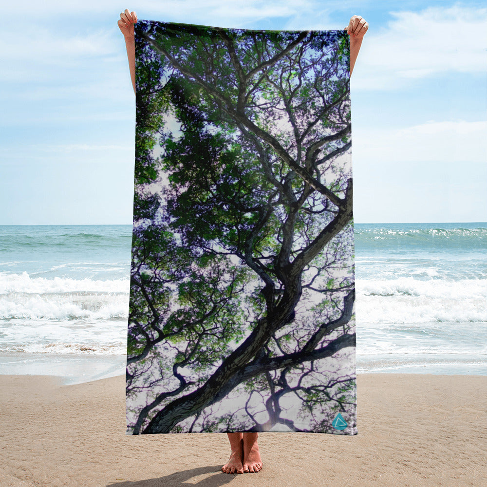 Hawaii Koa Tree Beach Towel
