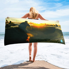 Venice Skatepark Sunset Towel