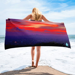 Los Angeles Sunset Towel
