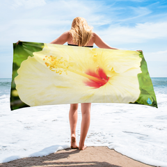 Hibiscus Yellow Flower Towel