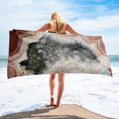 Natural Agate Crystal Towel