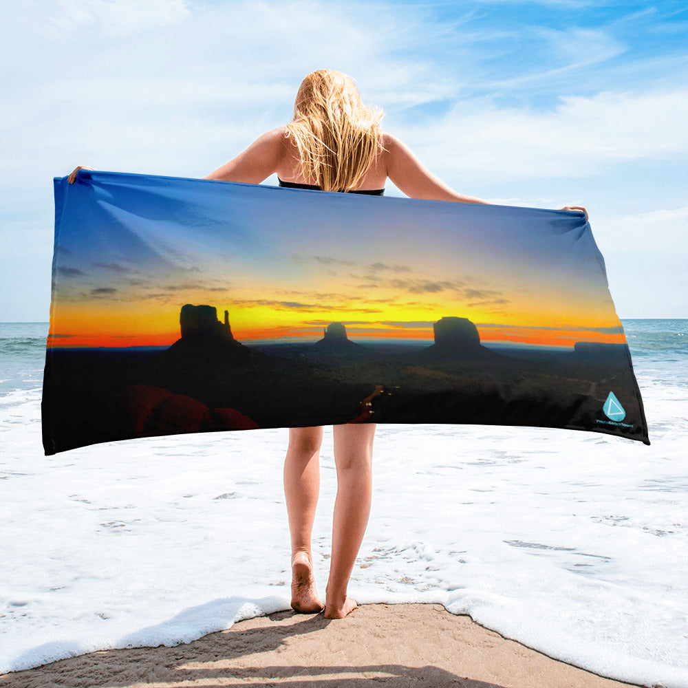 Monument Valley Sunset Towel