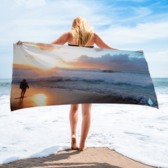 Pipeline Dream Surfing Sunset Towel