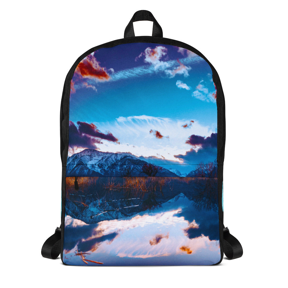 Mountain Reflection Photo Backpack