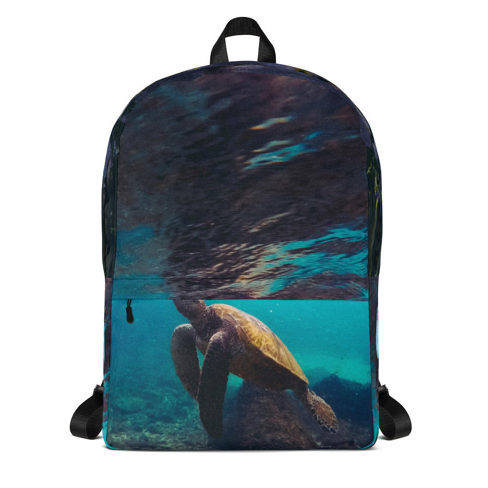 Turtle Reflection Photo Backpack
