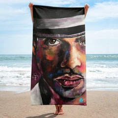Prince Collectors Mural Painting Musician Beach Towel