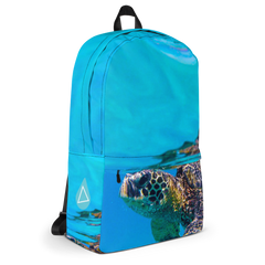 Underwater Turtle Swimming Photo Backpack