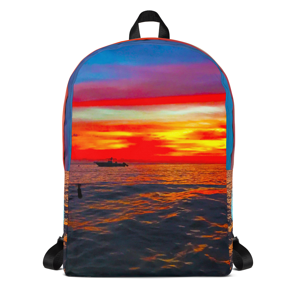 Ocean Sunset Photo Backpack