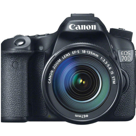 CAMARA CANON EOS 70D 18-135mm IS STM WIFI+GPS KIT