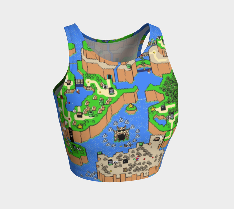 Super Mario World Map Crop Top