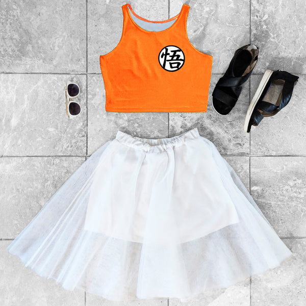 Goku Inspired Crop Top